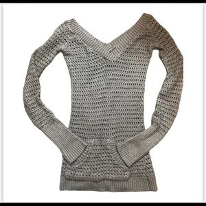 52 Weekends Grey V Neck Sweater